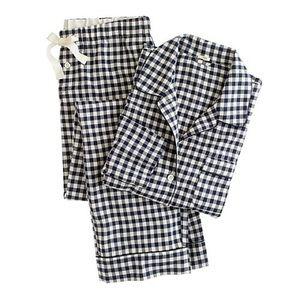 JCREW gingham plaid flannel pajamas XS.        214